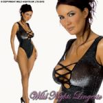Lurex Criss Cross BODY STOCKING
